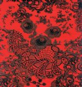 Decopatch Paper - Number 436 - Red & Black Lace